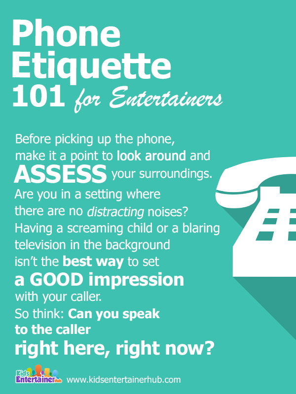 Phone Tips for Entertainers 1