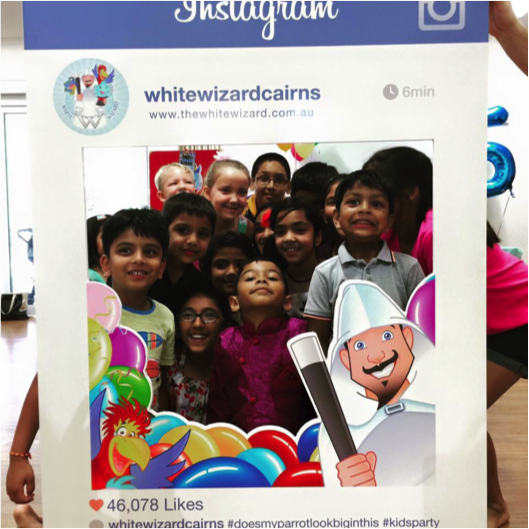Stephen Von Spiegelhauer's Instagram Frame for Kids Entertainers: Make sure to use your logo and Instagram name account in your printout frame